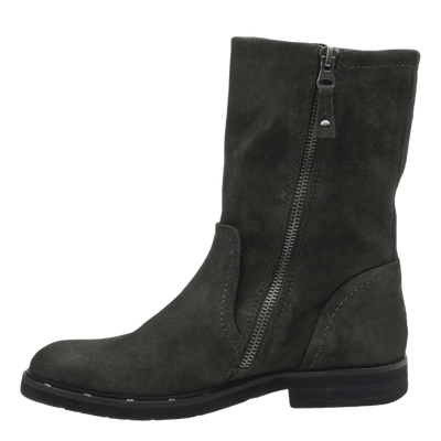 Causeway womens boot in sable inside view