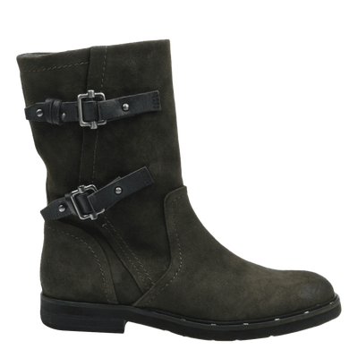 Causeway womens boot in sable side view