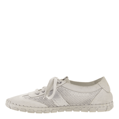 Womens sneaker Comet in off white inside view
