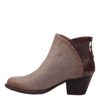 Compass dark taupe ankle boot inside
