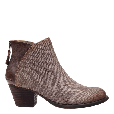 Compass dark taupe ankle boot side view