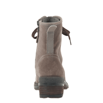 Womens ankle boot country in grey back view