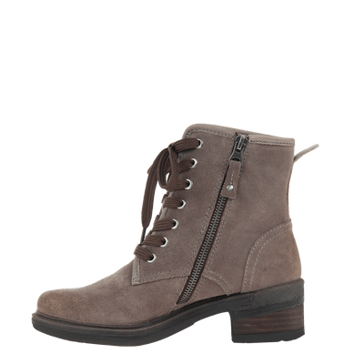 Womens ankle boot country in grey inside