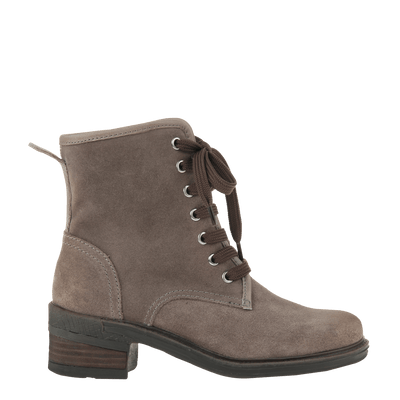 Womens ankle boot country in grey side view