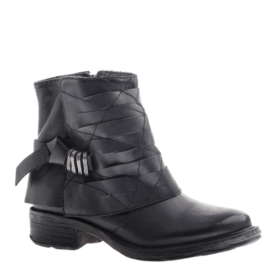 OTBT, Custer, Lead, leather ankle boot with buckle