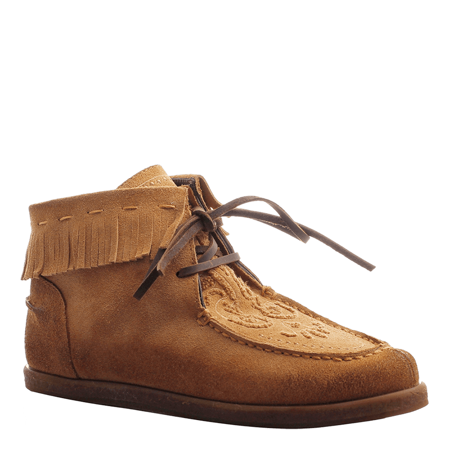 OTBT, Dell Rapids, Tan, Fringe moccasin with tie
