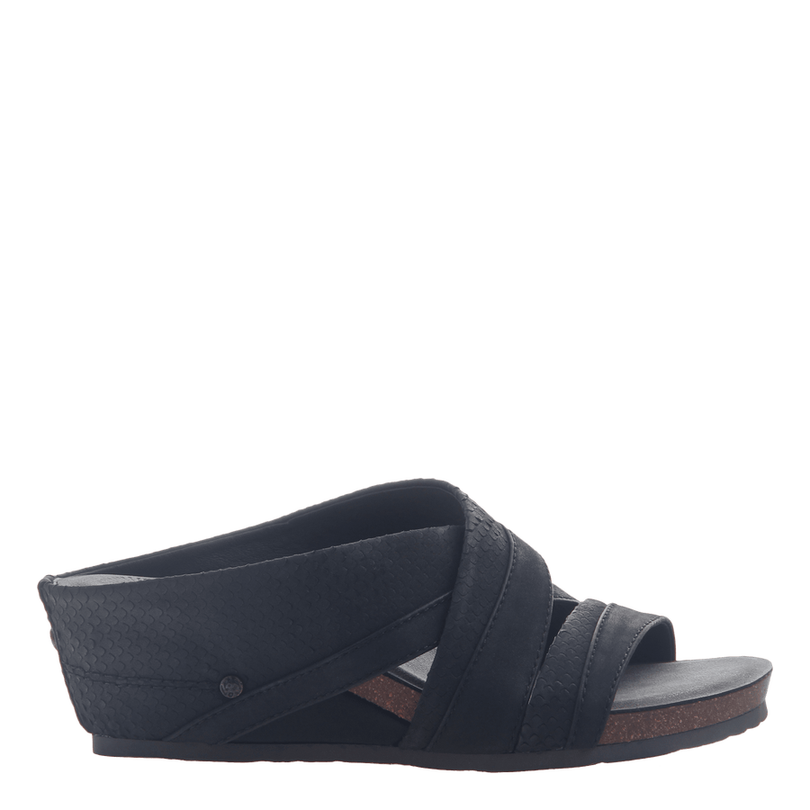 Womens slide sandal departure in black
