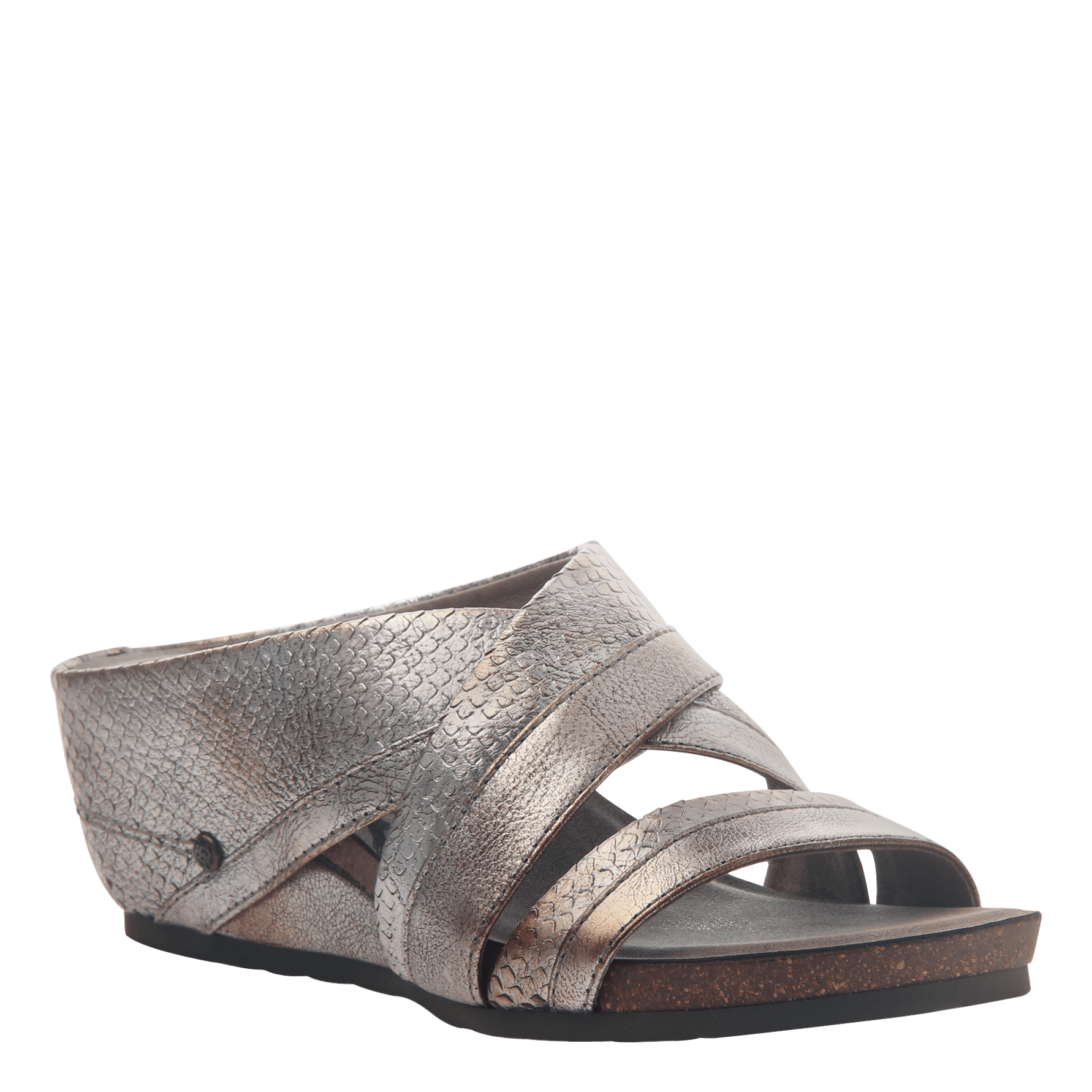 a2a115d084ed Womens slide sandal departure in silver