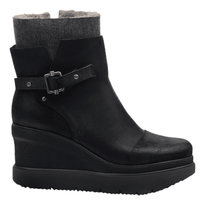 Womens ankle boot Descend in Black side view