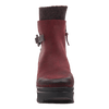 Womens ankle boot descend in Wine front view