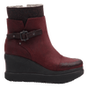 Womens ankle boot descend in Wine side view