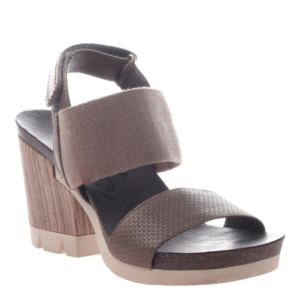 OTBT, Duty Free, Mint, Ankle Strap wood heeled sandal