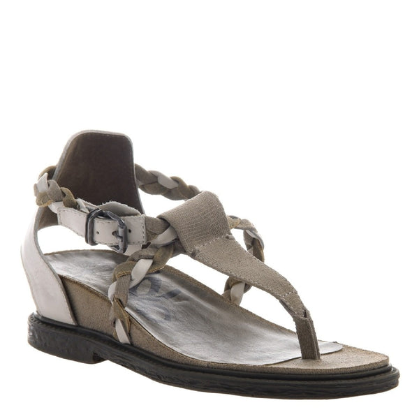 OTBT, Earthly, Cement, Braided thong sandal