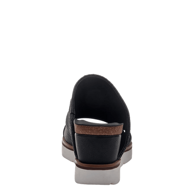 Womens wedge earthshine in black back view