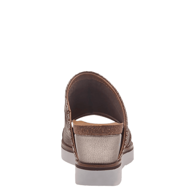 Womens wedge earthshine in light gold back view