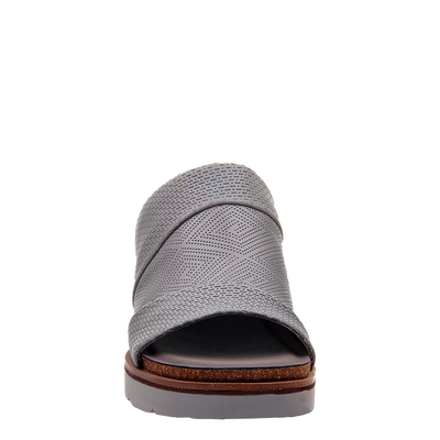 Womens wedge earthshine in zinc front view