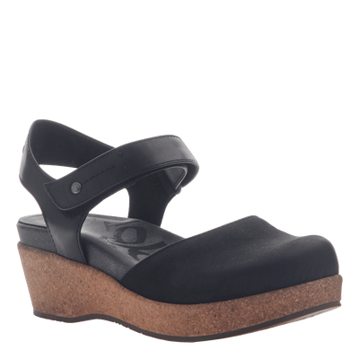 Womens wedge elizabeth in black