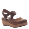 Womens wedge elizabeth in medium brown