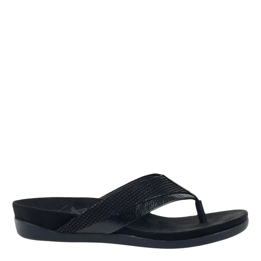 Women flat sandal Emmeth in black