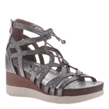 ESCAPADE in SILVER Wedge Sandals