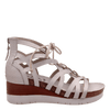 Womens wedge escapade in sport white side view