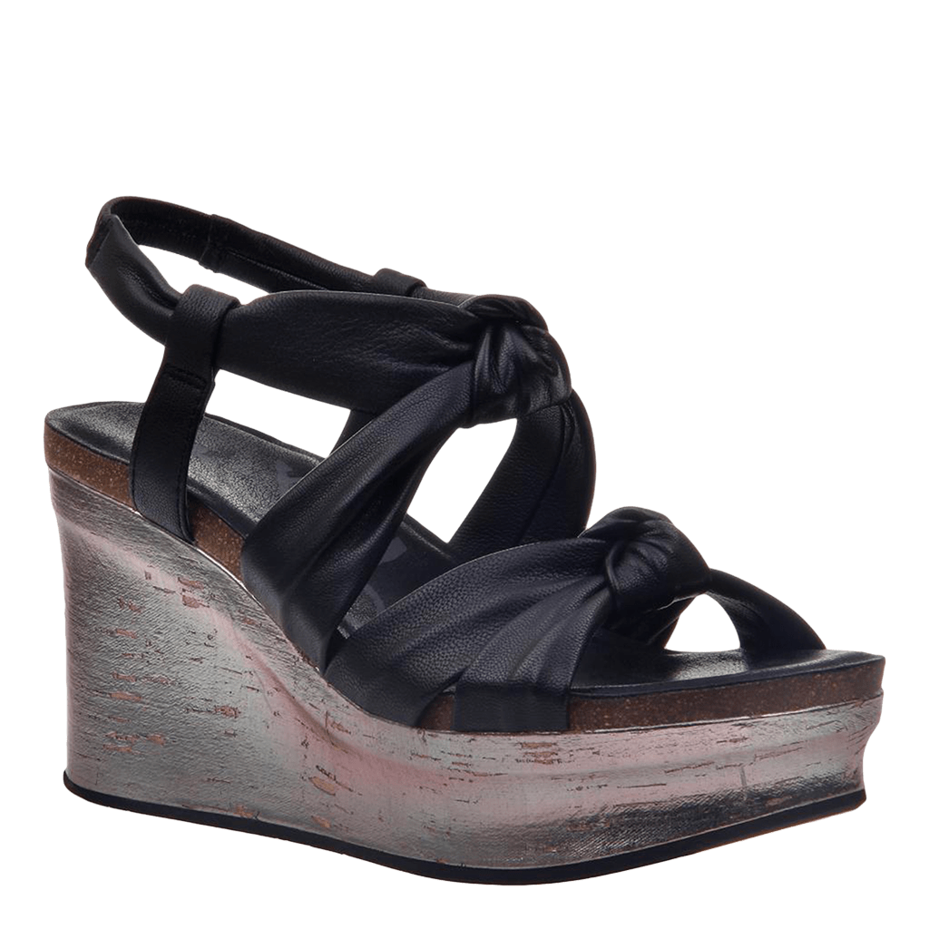 Womens wedge far side black