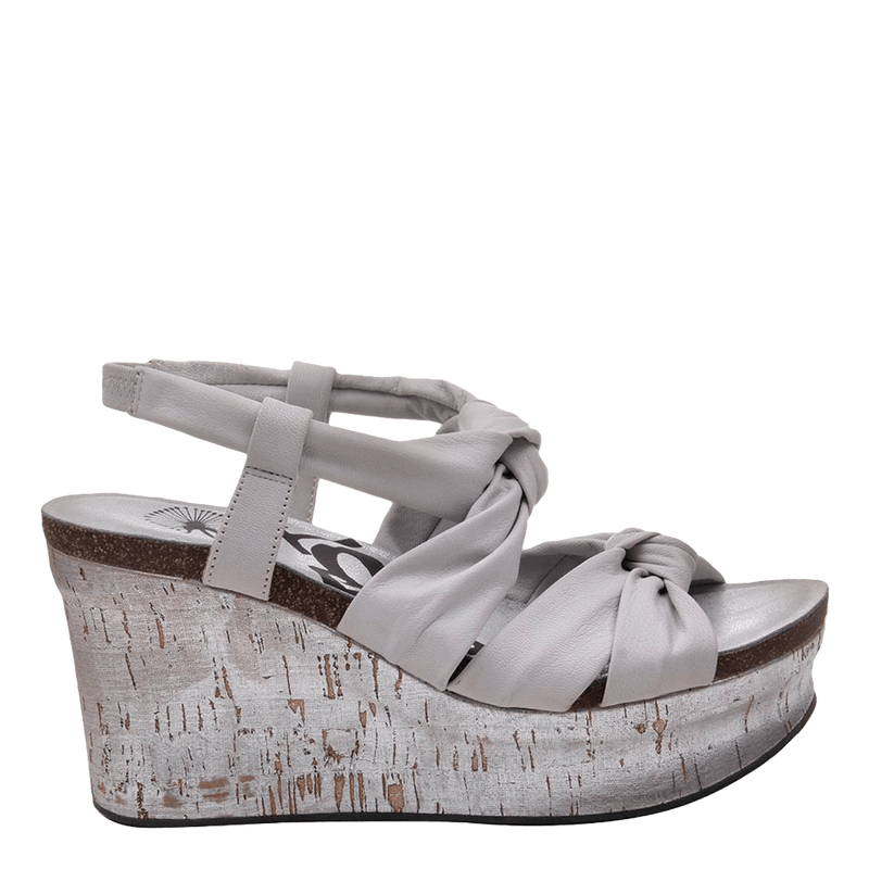 Womens wedge far side in dove grey