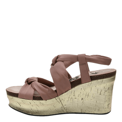Womens wedge far side in mauve inside