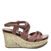 Womens wedge far side in mauve side view