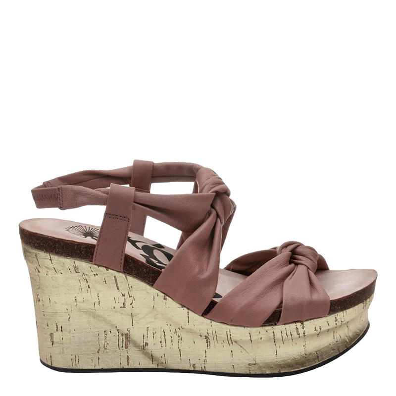 Womens wedge far side in mauve