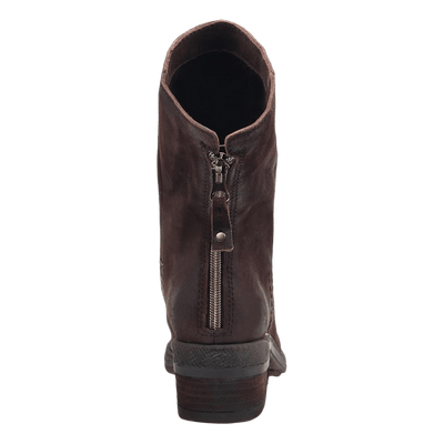 Fernweh Women's boot dark brown back view