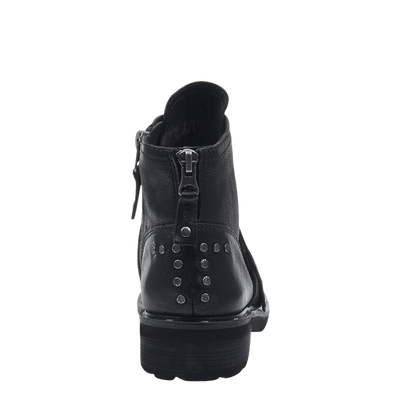 Womens frontage boot black back view