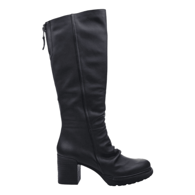 Womens over the knee boot Gambol in black side view