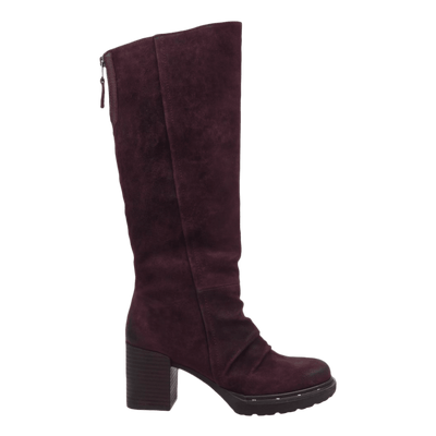 Womens over the knee boot Gambol in chianti side view