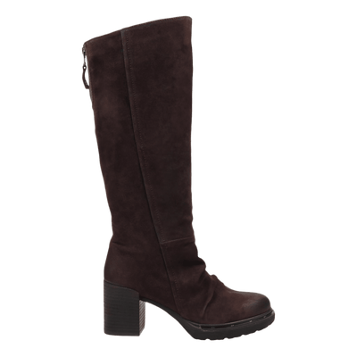 Womens over the knee boot Gambol in dark brown side view