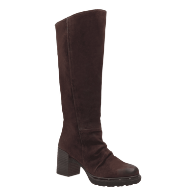 Womens over the knee boot Gambol in dark brown