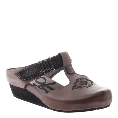 OTBT, Streams, Dust Grey, Slide on clog with side buckle