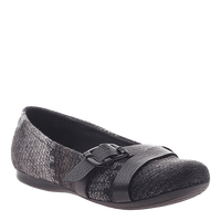 OTBT, Plymouth, New Pewter, Ballet flat with buckles