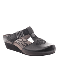 OTBT, Streams, Black, Slide on clog with side buckle
