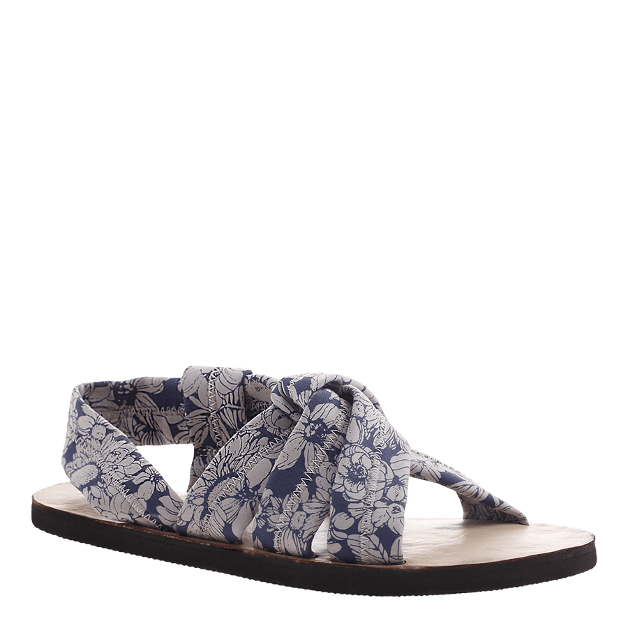 OTBT, Citrus, Blue White, flat fabric sandal