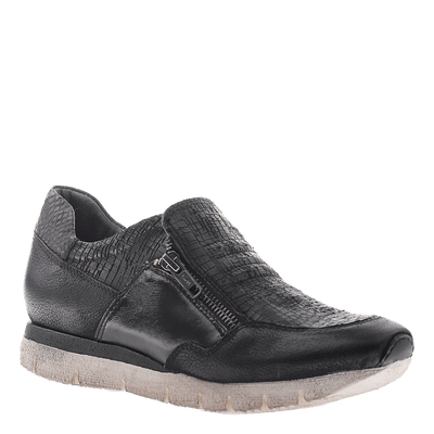OTBT, Sewell, Black, Slip on sneaker with side zippers