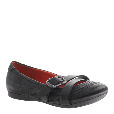 OTBT, Plymouth, Black, Ballet flat with buckle