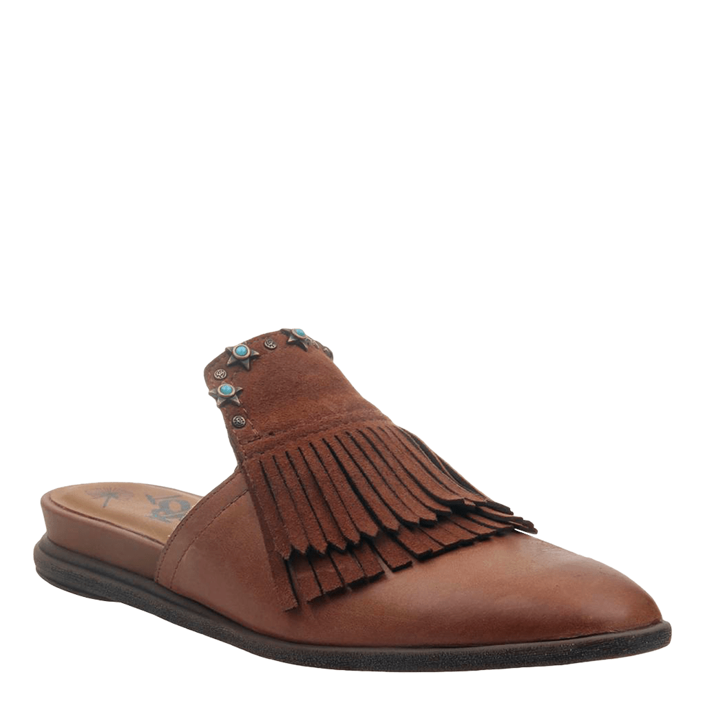 Womens slide gleam medium brown