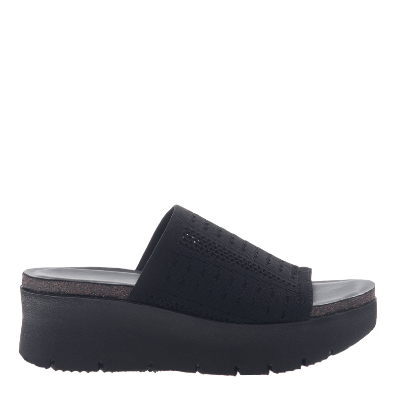 Womens platform slide Gravity in Black