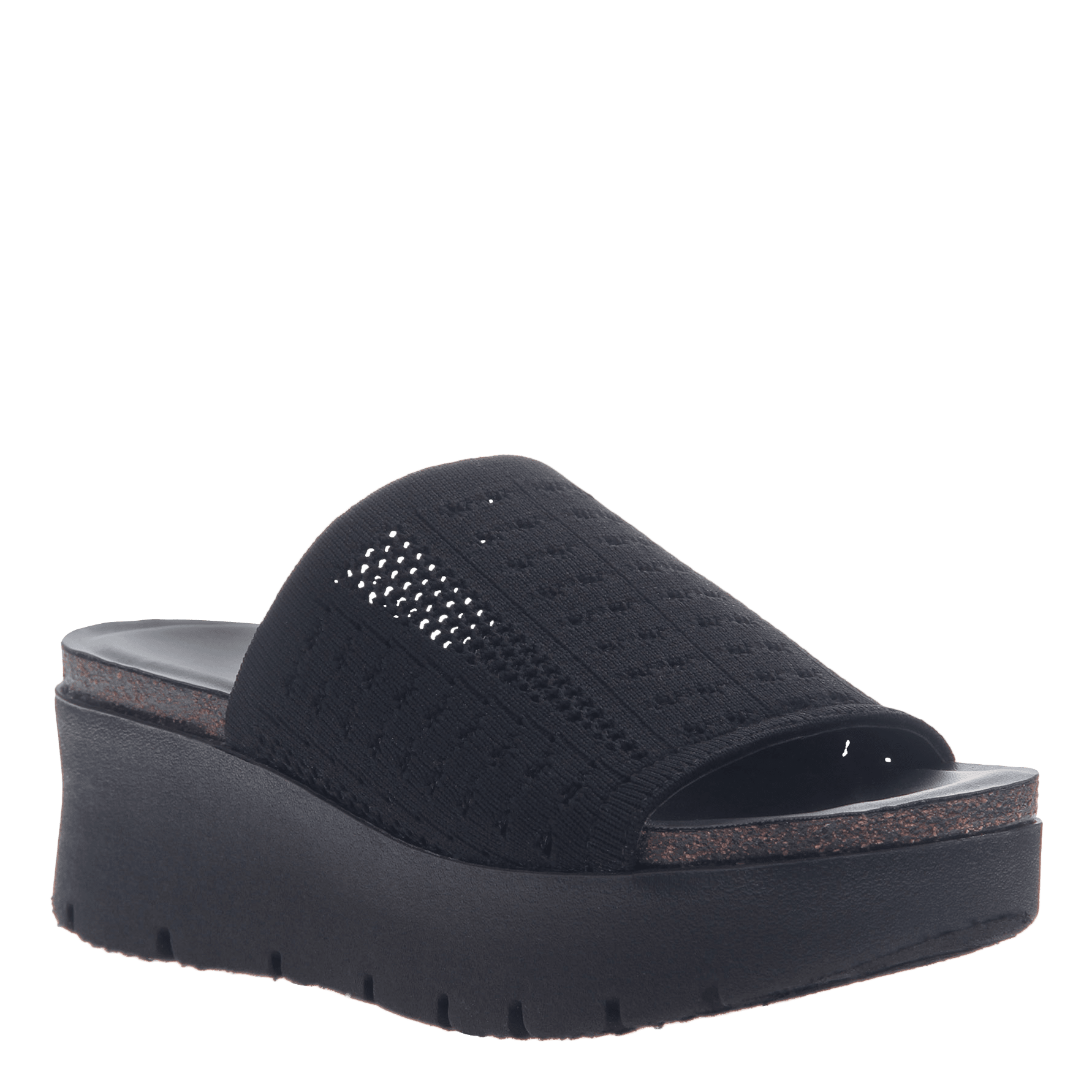 4df5669566 Gravity in Black Wedge Sandals | Women's Shoes by OTBT