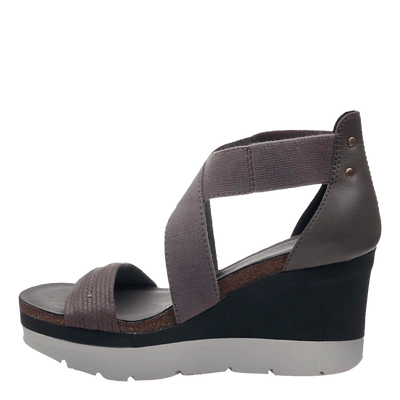 Womens wedge half moon cinder inside