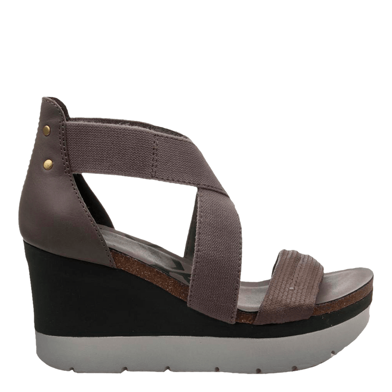 Womens wedge half moon cinder