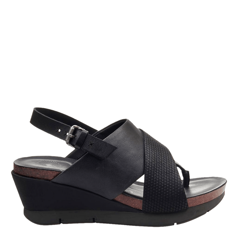 Womens wedge in focus black