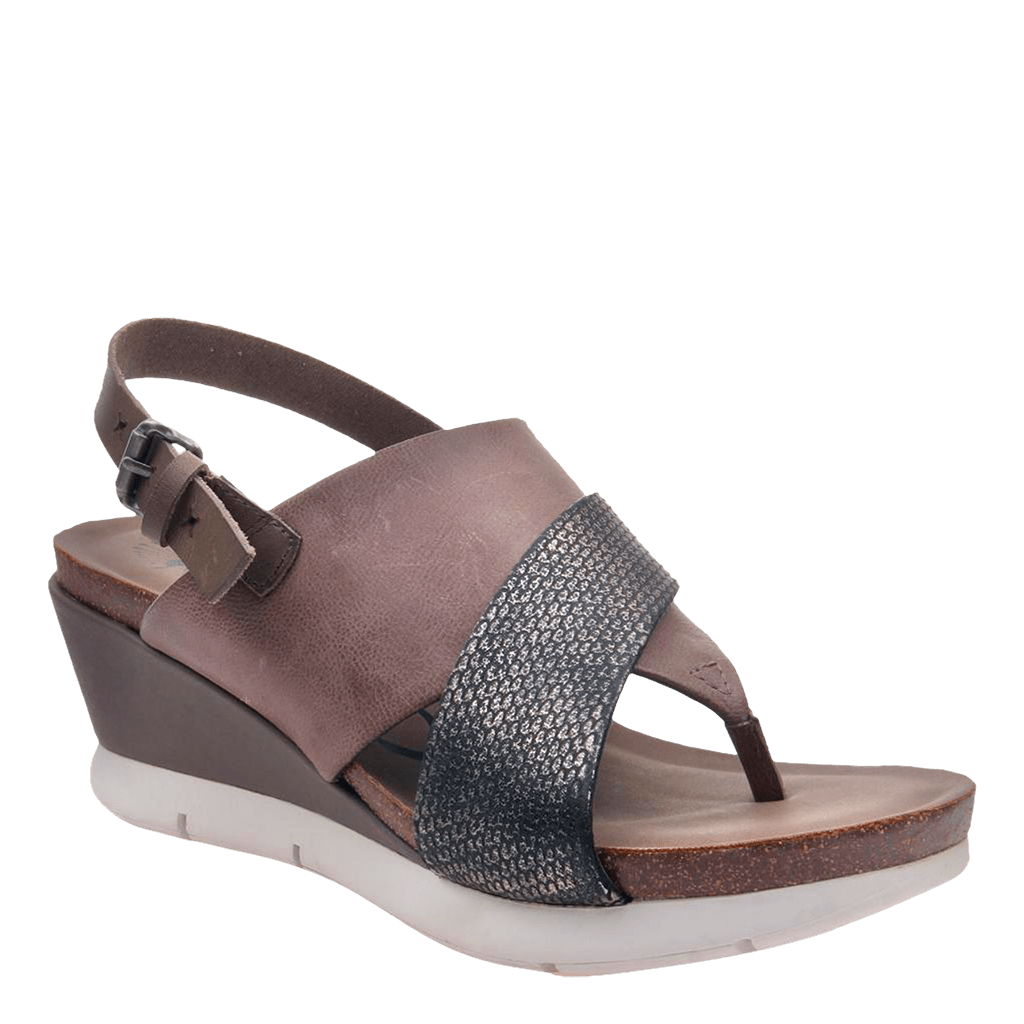 Womens wedge in focus zinc