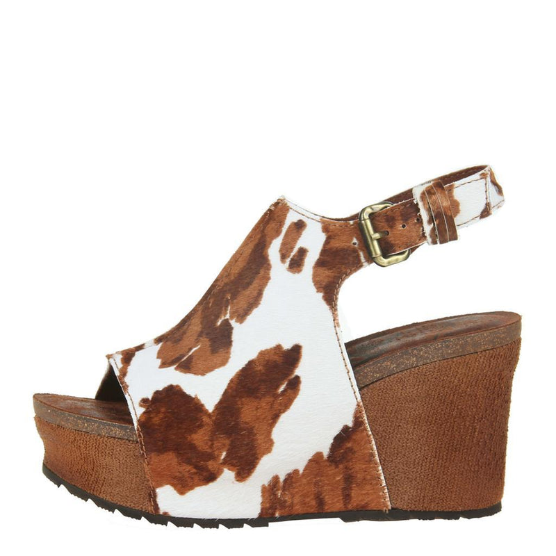 JAUNT in CALF PRINT Wedge Sandals